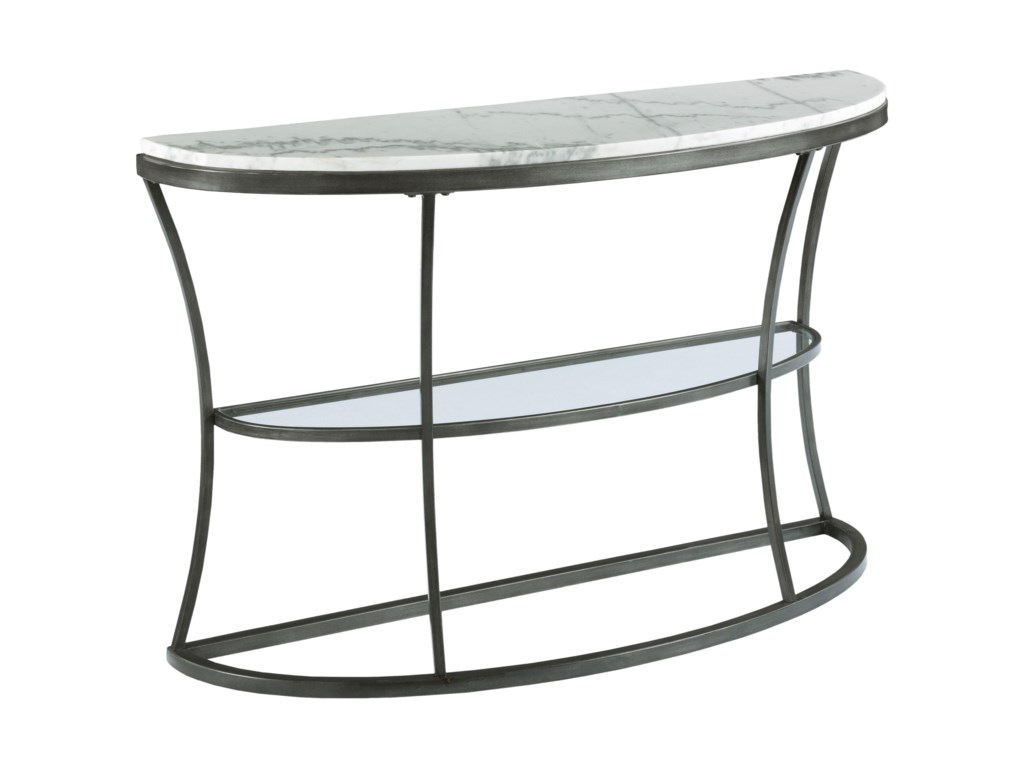 Hammary ImpactMarble Top Demilune Console