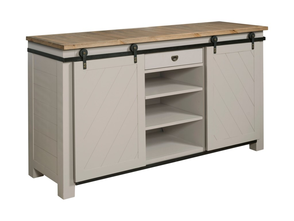 Hammary JunctionShiplap Sliding Door Media Console