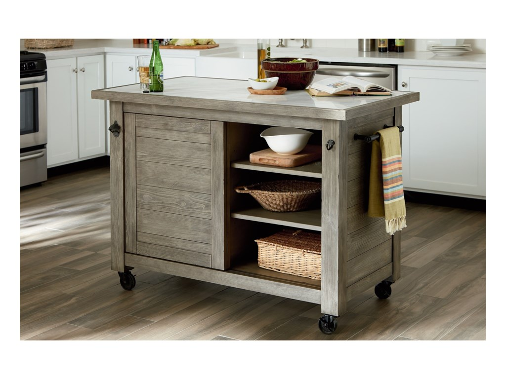 Hammary JunctionShiplap Kitchen Island