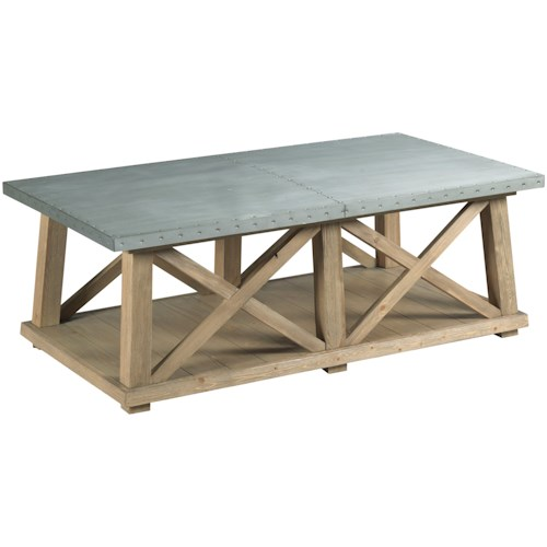 Hammary Junction Truss Cocktail Table