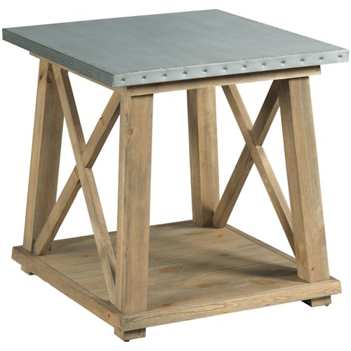 Hammary Junction Truss End Table