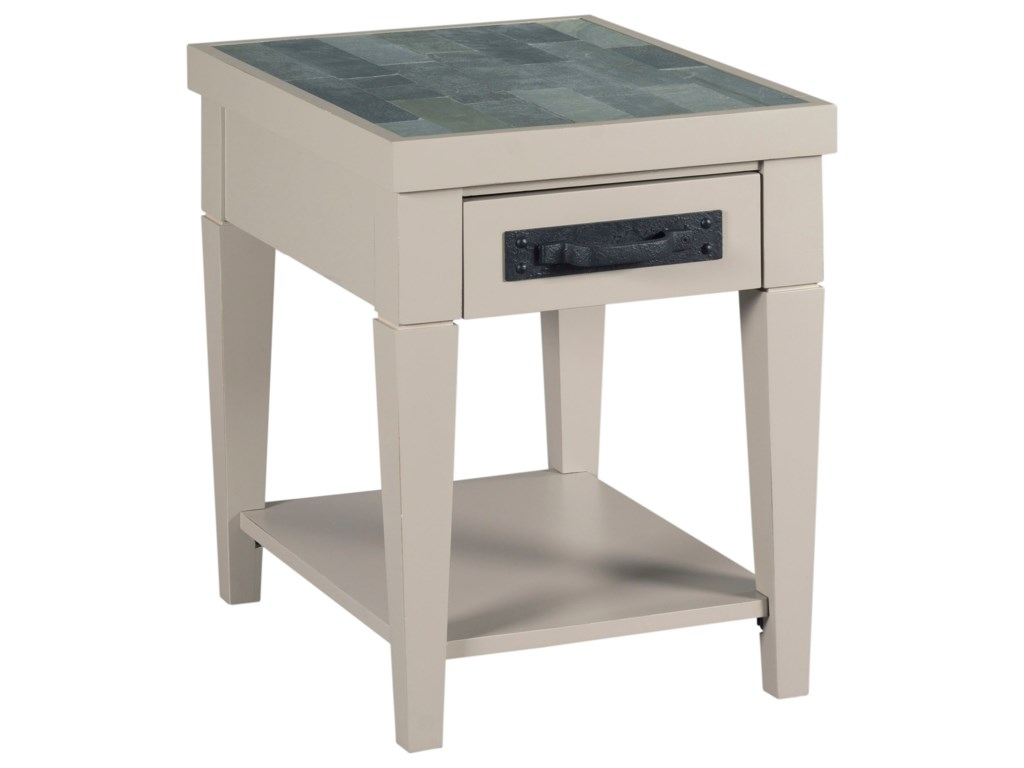 Hammary junctioncharging chairside table