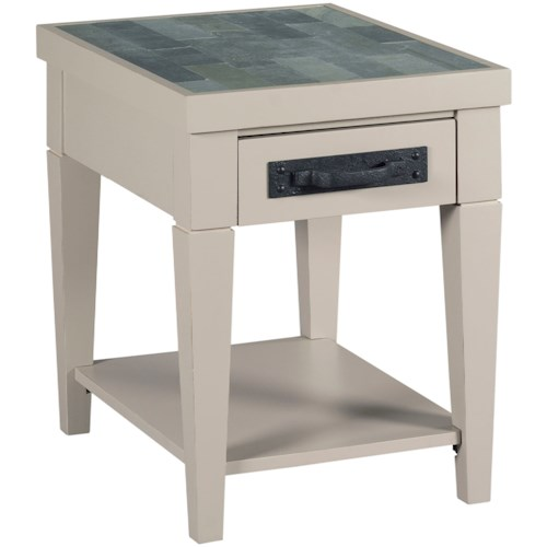 Hammary Junction Charging Chairside Table with USB Port