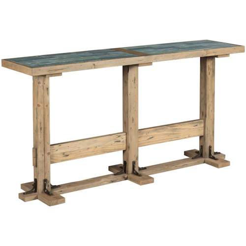Hammary Junction Bracket Console with Slate Tile Top