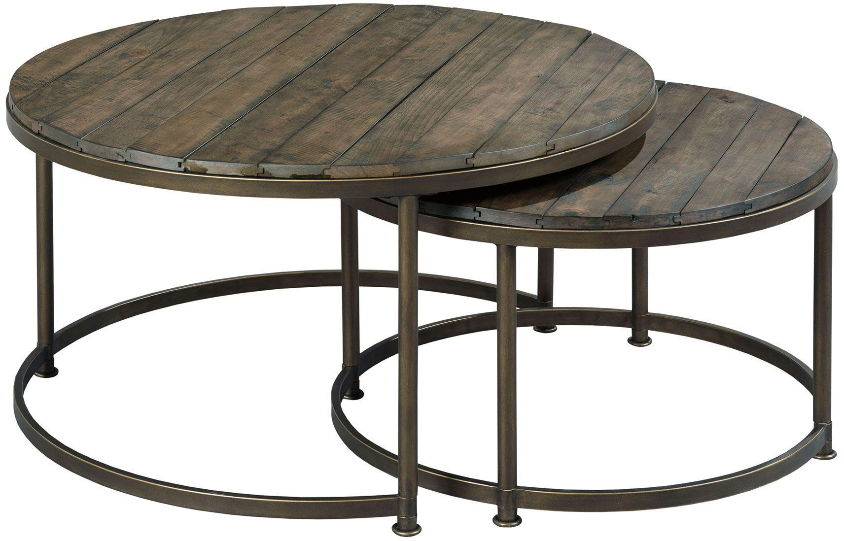 Picture of: Hammary Leone Round Nesting Cocktail Table Wayside Furniture Cocktail Coffee Tables