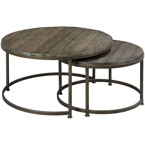 Hammary Leone Round Nesting Cocktail Table