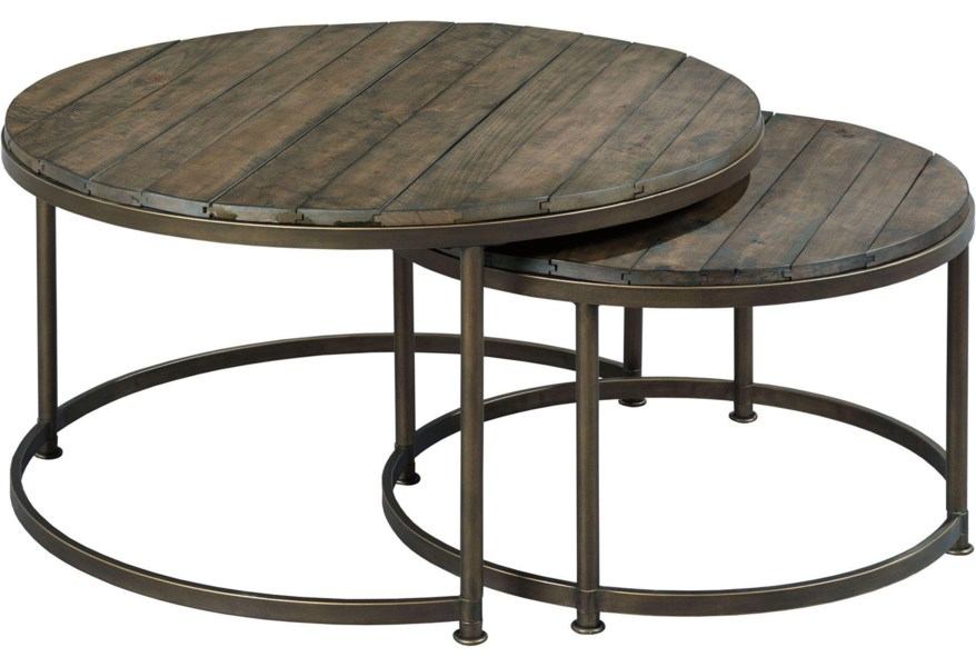 Hammary Leone Round Nesting Cocktail Table Stoney Creek
