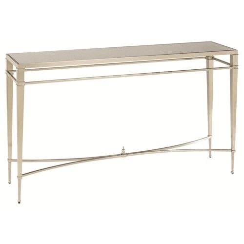 Hammary Mallory Silver Nickel Antique Finish Sofa Table