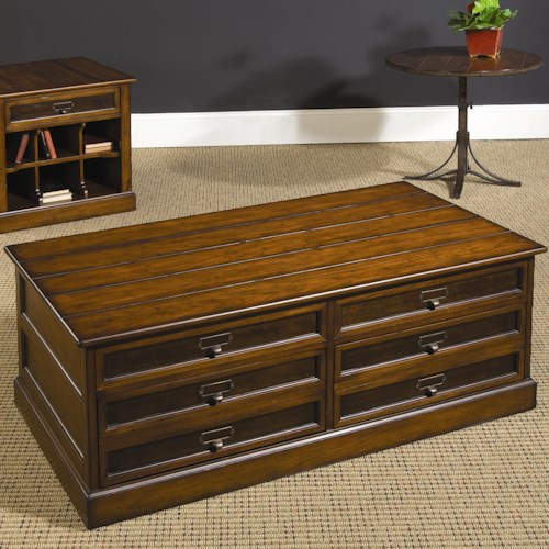 Hammary Mercantile Rectangular Storage Cocktail Table