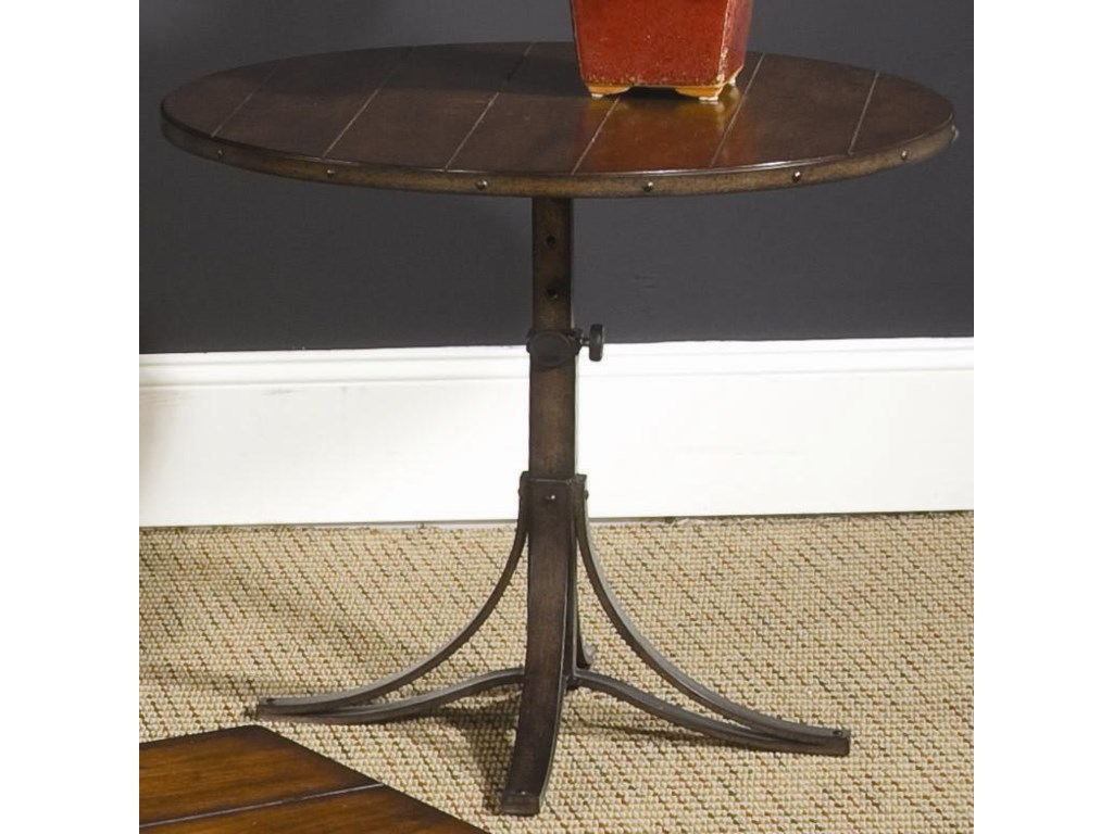 Hammary MercantileRound Adjustable Accent Table