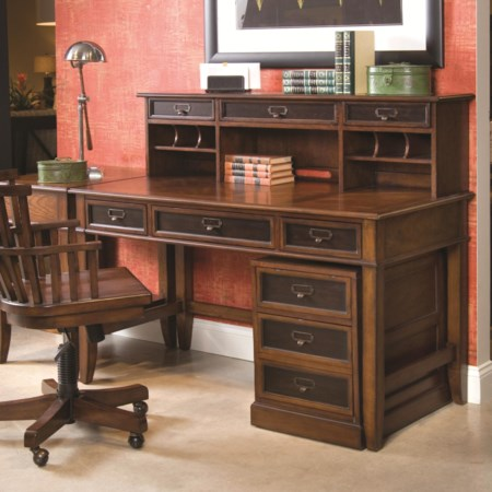 Desk & Hutch with Rolling File