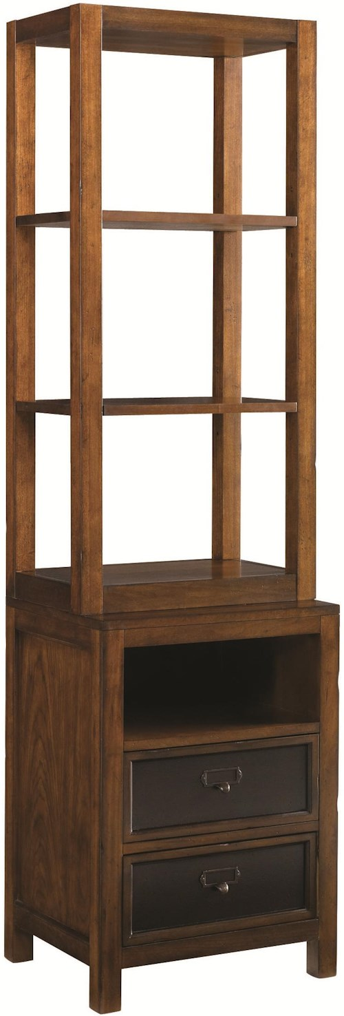 Hammary Mercantile Two-Drawer Entertainment Pier with Two Adjustable Shelves