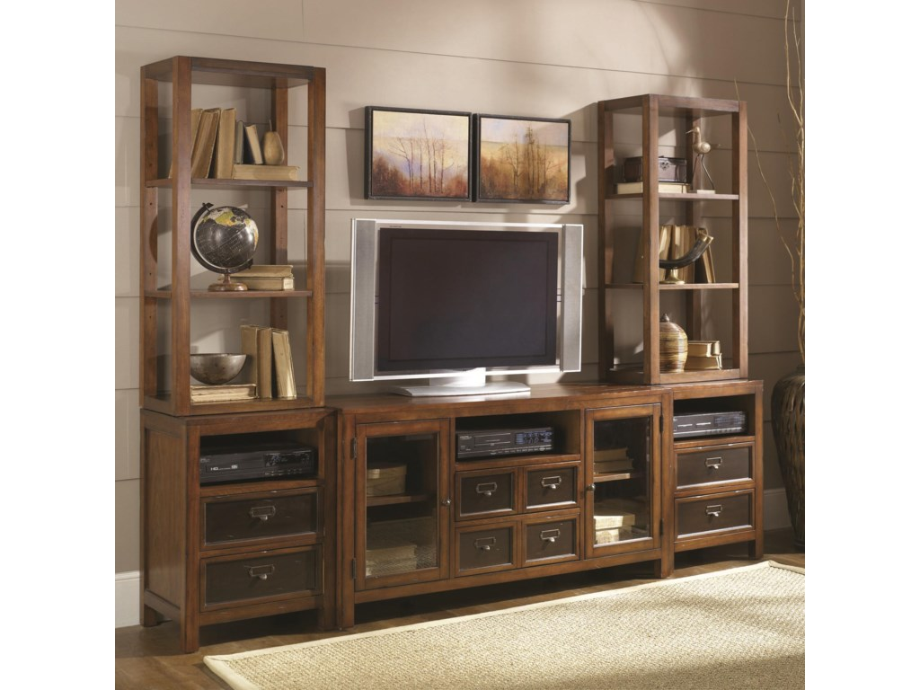 Two Shown Flanking Entertainment Console