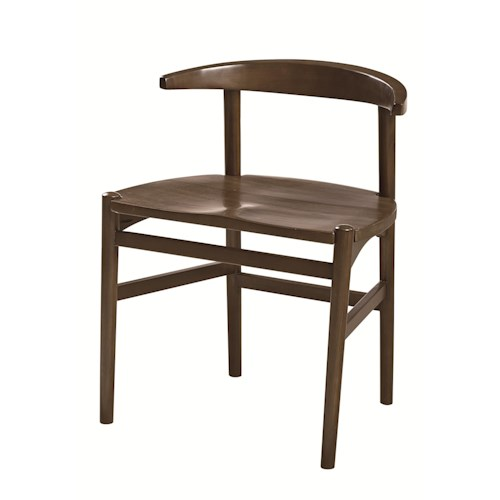 Hammary Mila Modern Desk Chair with Bentwood Back