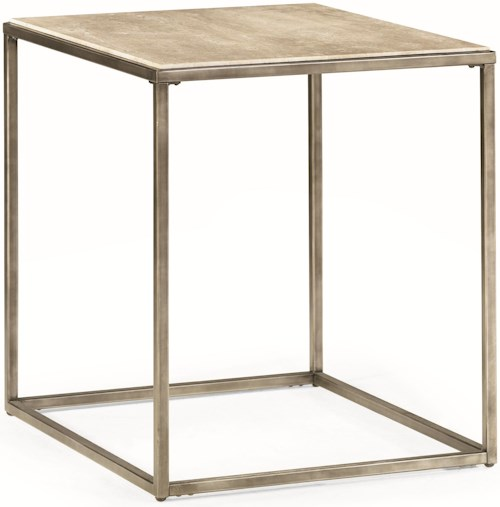 Hammary Modern Basics Rectangular End Table with Bronze Finish