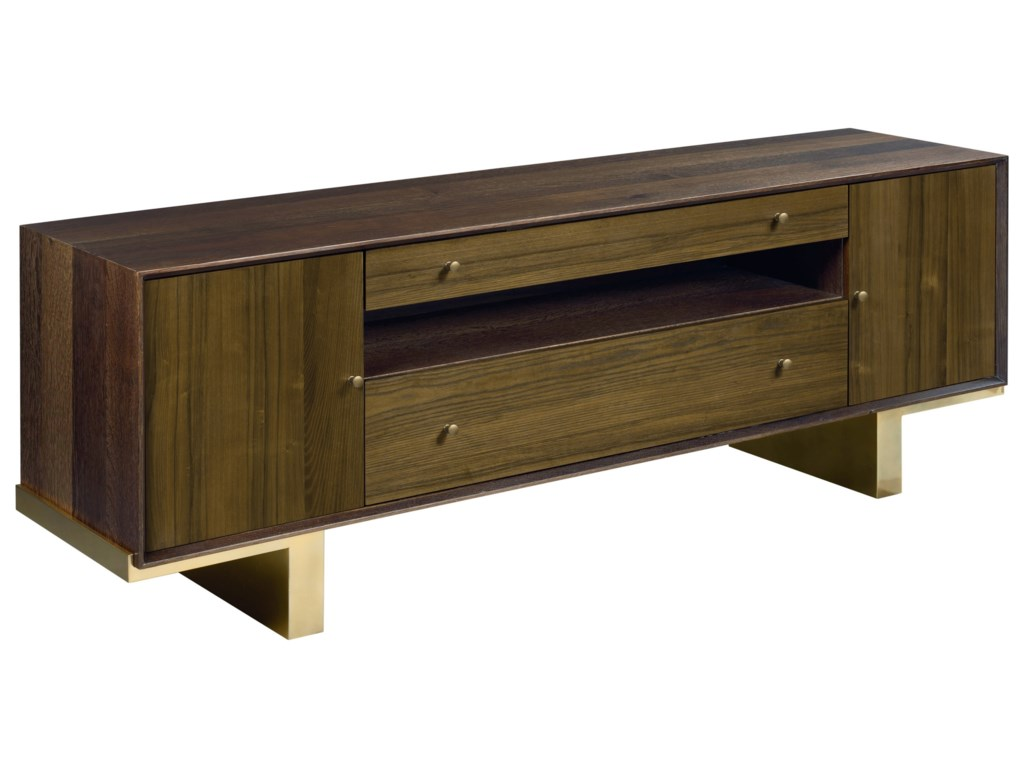 Hammary Modern Organics Conrad Entertainment Console With Outlet And