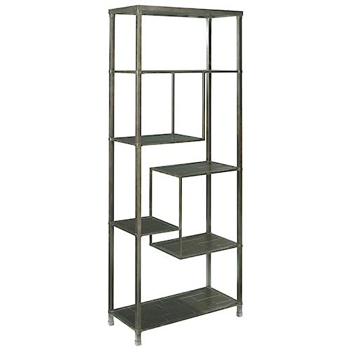 Hammary Newton Etagere Bookcase with 6 Shelves