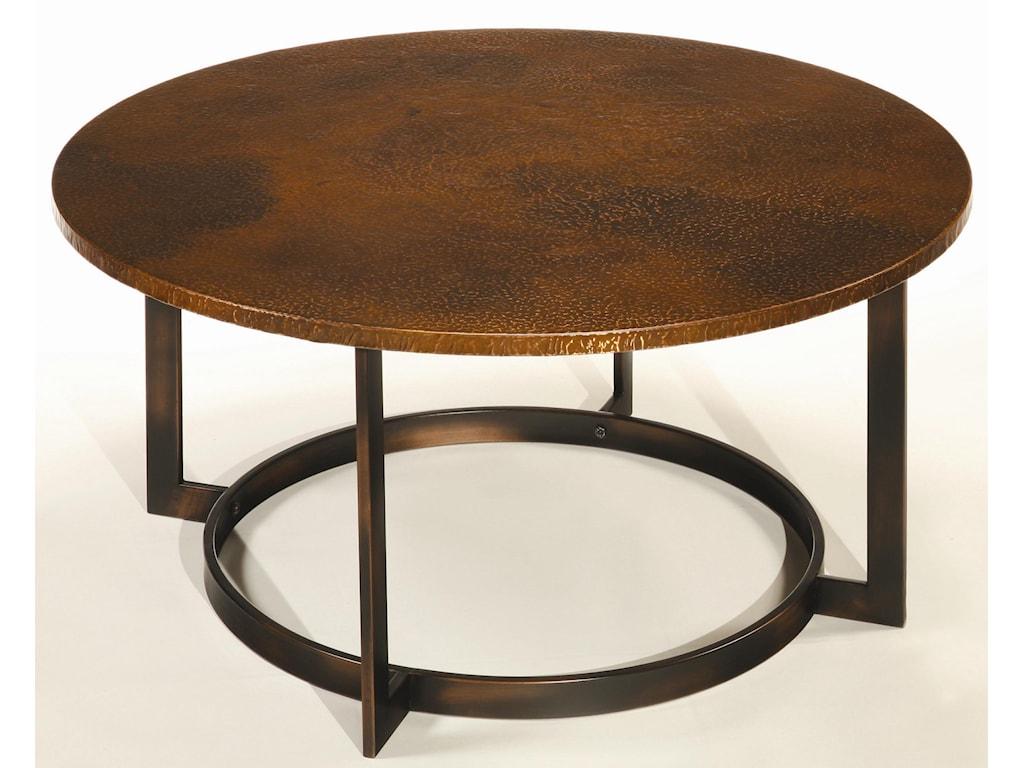Hammary Nueva Coffee Table Top W Copper Top Wayside Furniture