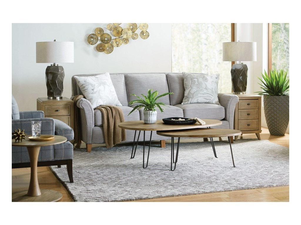 Morris Home ObliqueRound Side Table