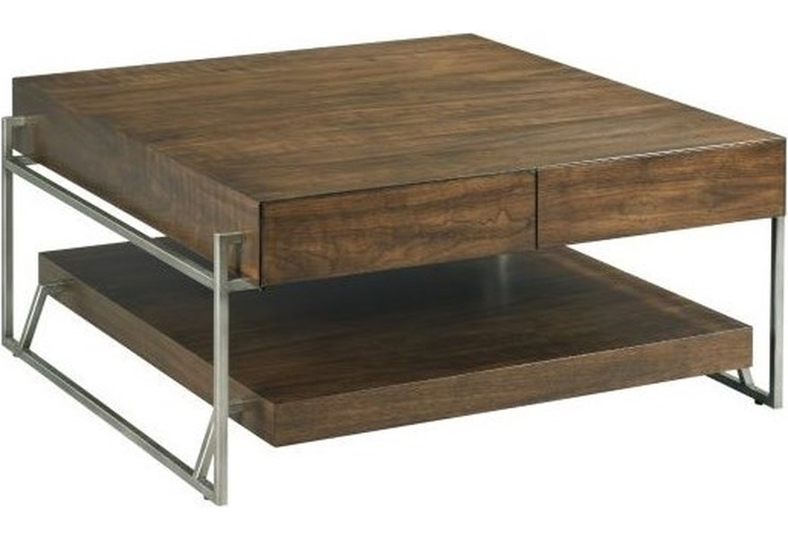 Hammary Palermo Industrial Square Cocktail Table With Storage