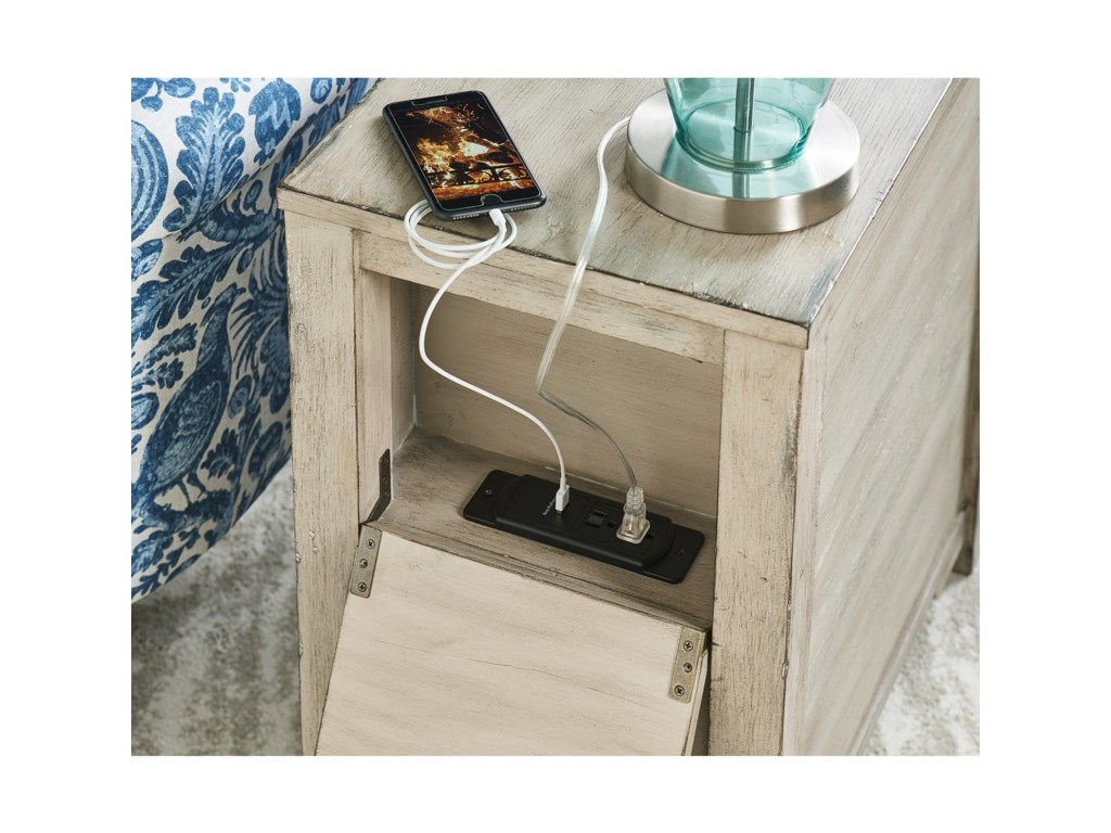 Hammary PapillonCharging Chairside Table