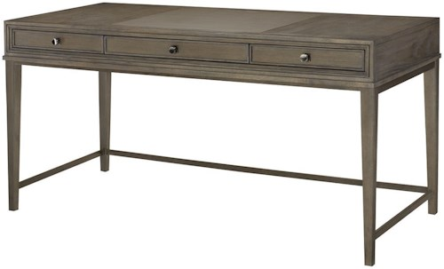 Hammary Park Studio Contemporary Writing Desk with Drop-front Center Drawer
