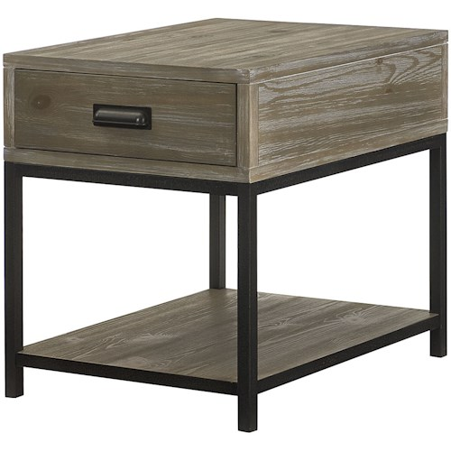 Hammary Parsons Rectangular Drawer End Table with Shelf