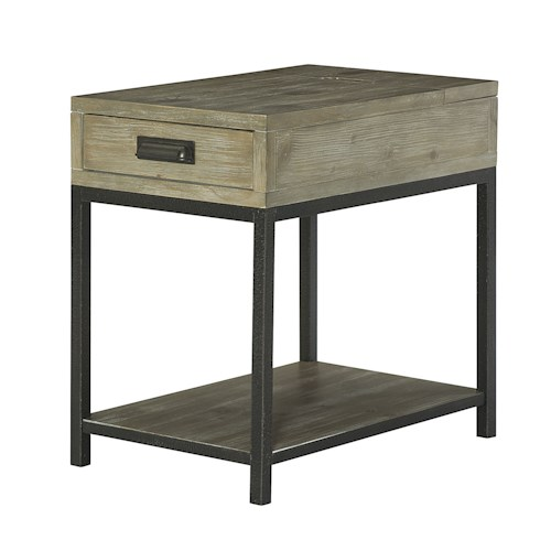 Hammary Parsons Charging Chairside Table with Drawer
