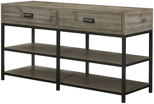 Hammary Parsons Entertainment Console with Shelves and Drawer Storage