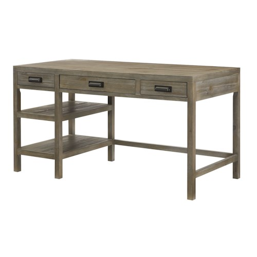 Hammary Parsons Single Pedestal Desk with