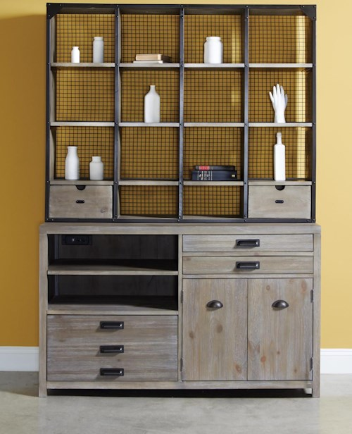 Hammary Parsons Credenza Desk and Hutch