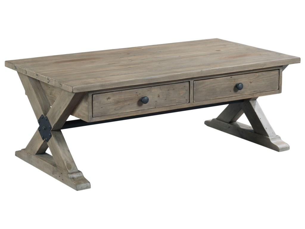Hammary Reclamation PlaceTrestle Rectangular Cocktail Table
