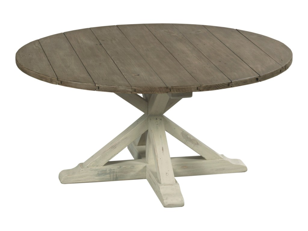 Hammary Reclamation Place                                 Trestle Round Cocktail Table