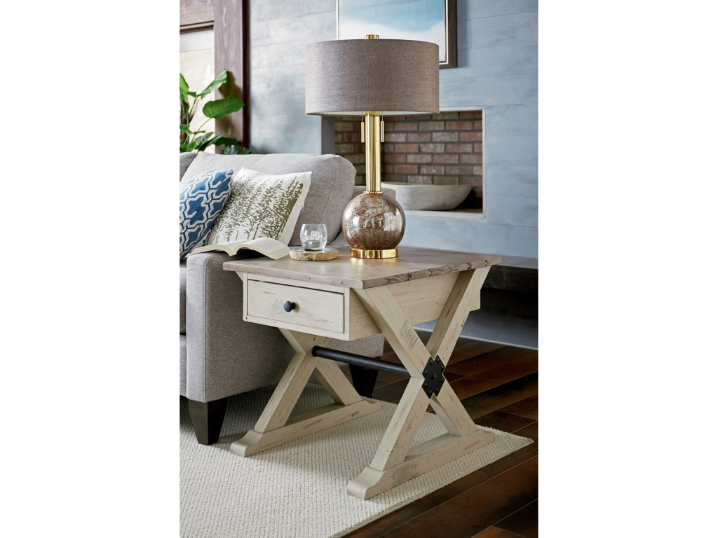 Hammary PrescottTrestle Drawer End Table