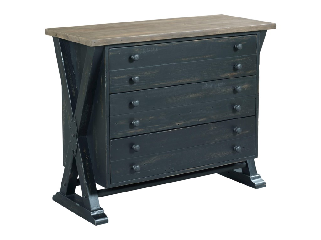 Hammary Reclamation PlaceTrestle Drawer Cabinet