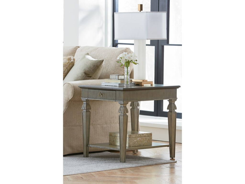 Hammary SavonaAurora Rectangular End Table