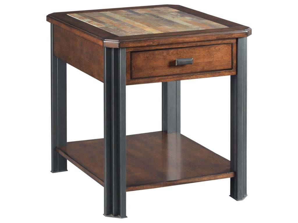 Hammary SlatonRectangular Drawer End Table