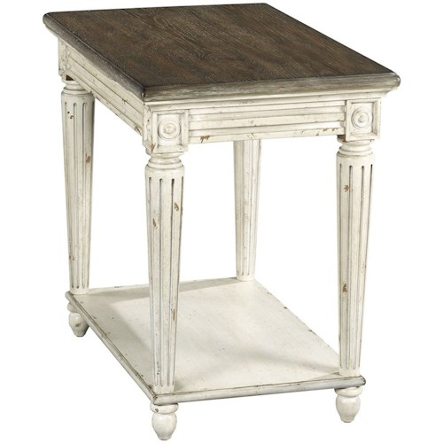 Hammary Southbury OCC Chairside Charging Table with Shelf