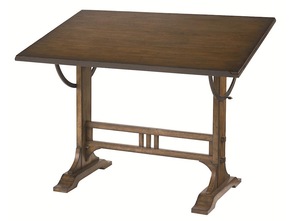 Mission Weathered Oak Architect Desk