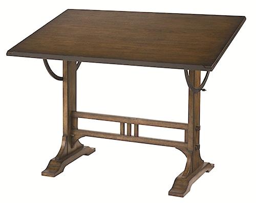 Hammary Studio Home Mission Weathered Oak Architect Desk