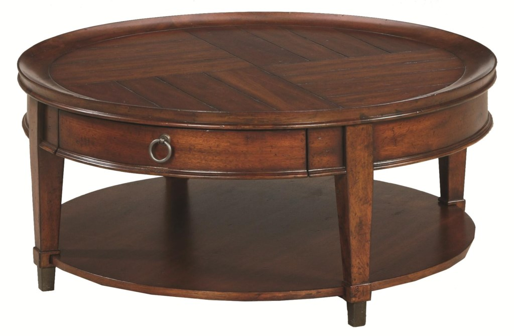 Hammary Sunset Valley 197 911 Round Cocktail Table Hudson S