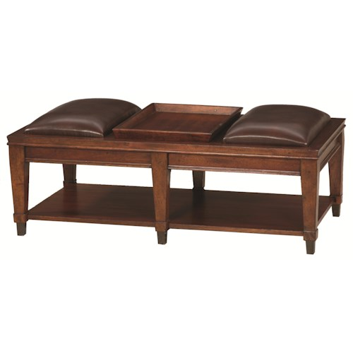 Hammary Sunset Valley Rectangular Bench Cocktail Table