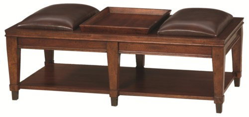 Hammary Sunset Valley Rectangular Bench Cocktail Table Howell
