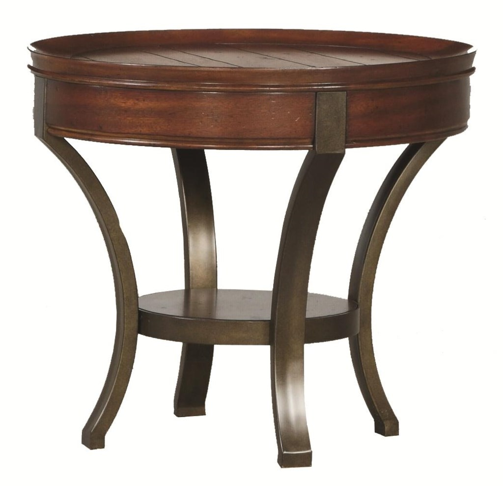 Hammary Sunset Valley Metal Base Round End Table Wayside Furniture