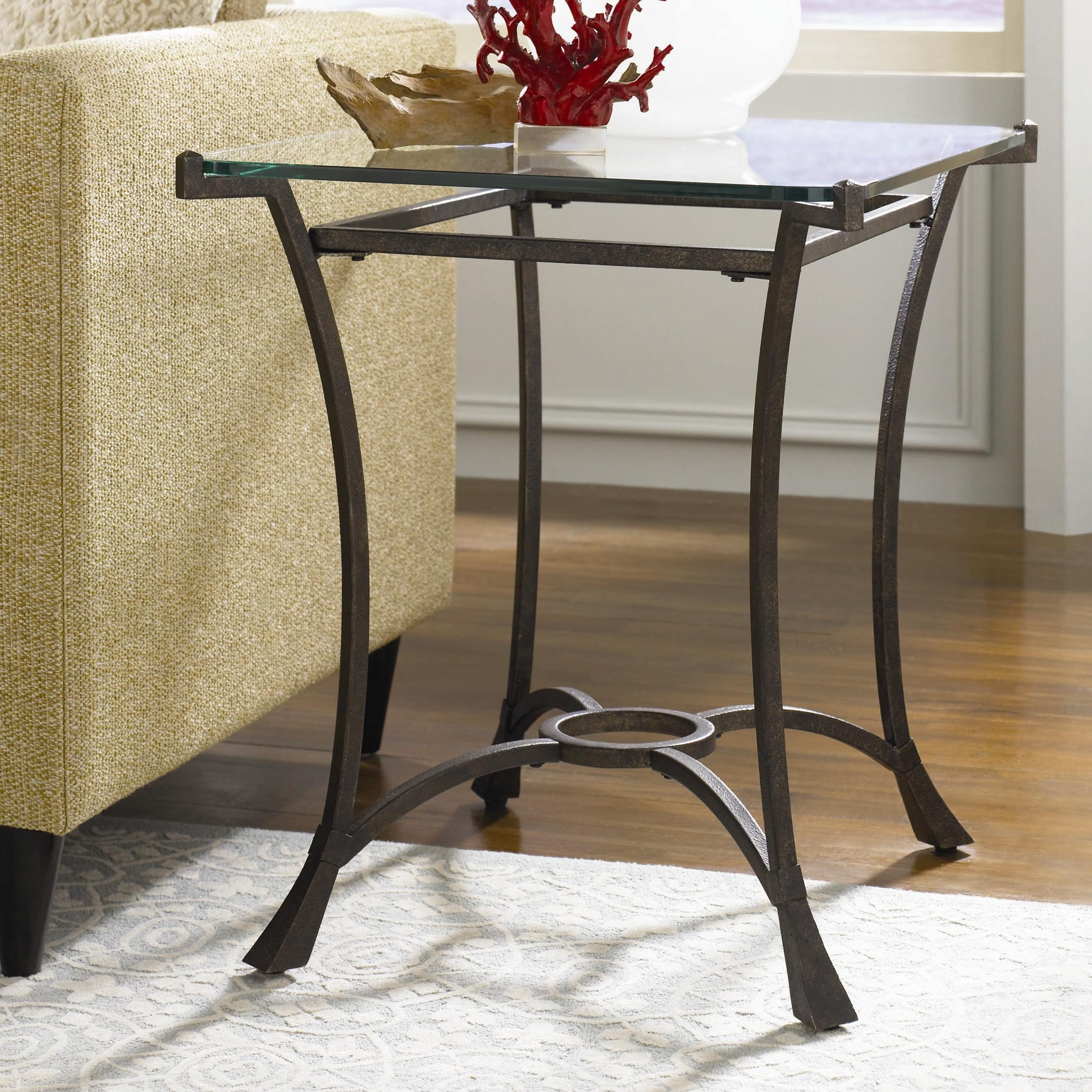 hammary sutton contemporary metal rectangular end table with glass rh wayside furniture com Long Console Tables Contemporary Modern Contemporary Sofa Tables