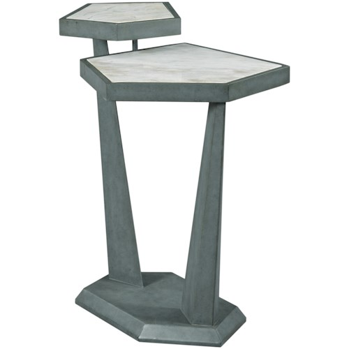 Hammary Synergy Contemporary Plane Accent Table With White Marble Top