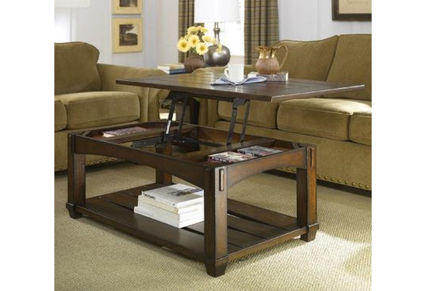 Hammary Tacoma Rectangular Mission Lift Top Cocktail Table Stoney Creek Furniture Cocktail Coffee Tables