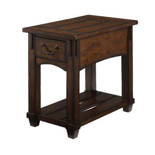 Hammary tacoma mission drawer chairside table wayside for Furniture in tacoma