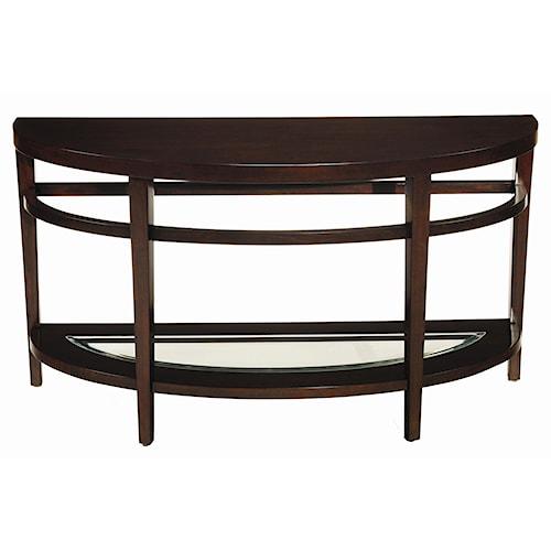 Hammary Urbana Demilune Sofa Table