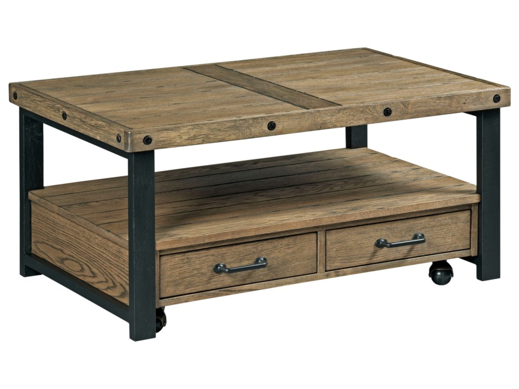 Hammary WorkbenchSmall Rectangular Cocktail Table